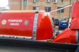 SMURD-ul a adus o șalupă și un hovercraft pentru sistemul de urgență din Delta Dunării