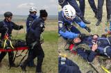 Acțiune specială a jandarmilor tulceni de salvare a unor victime cu elicopterul