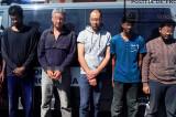 Migranți din Sri Lanka și Afganistan, conduși de o călăuză din Ucraina au fost reținuți de polițiștii de frontieră Pardina