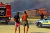 Incendiu devastator în zona plajei Vadu (ARBDD). Peste 200 de hectare afectate.