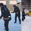 Tulcea:Jandarmii ajută persoanele afectate de ninsoare