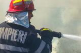 Pompierii în luptă cu focul: furaje și animale carbonizate la Jijila