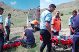 Polițiștii tulceni au salvat un biciclist accidentat în Munții Măcin