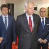 Ambasadorul Hans Klemm a inaugurat Raftul American la Biblioteca Județeană Panait Cerna