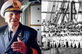Contraamiralul Mircea Caragea la…100 de ani. A participat la primul marș al navei Mircea
