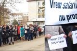 Protest spontan la Spitalului Judeţean de Urgenţă (SJU) din municipiul Tulcea