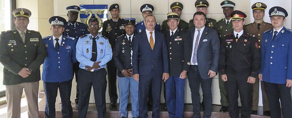 Tulcea: Ofițeri din 10 țări francofone în stagiu de pregătire atestat de Departamentul de operații de menținere a păcii din cadrul ONU