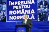 """(P)Klaus Iohannis și-a prezentat programul prezidențial """"Împreună pentru România normală"""""""
