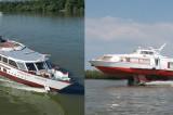 """Accident """"în lanț"""" pe Dunăre din cauza ceței – Nava rapidă de pasageri care venea de la Sulina a intrat în coliziune cu un bac de agrement și apoi cu o navă de pasageri aflată sub pavilion elvețian. Nu sunt victime."""