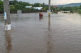 Potop în Nordul Dobrogei: la Luncavița-locuințe inundate, drumuri și podețe distruse, piața și baza sportivă complet acoperite cu apă