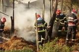 Incendiu la Nicolae Bălcescu. O femeie a avut nevoie de asistență medicală