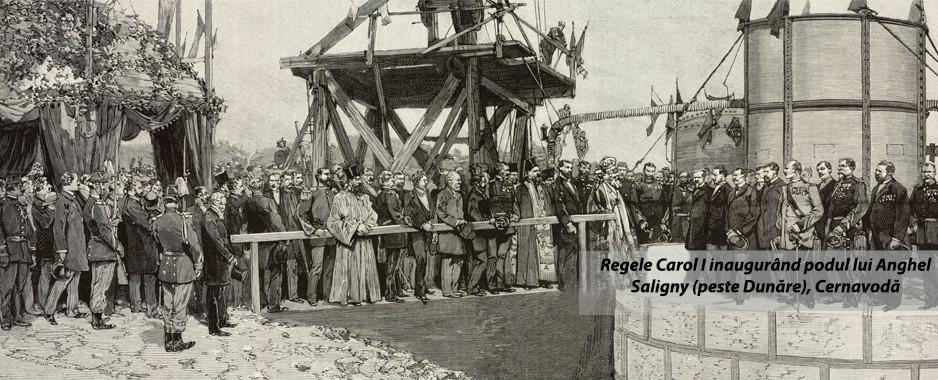 Dejun regal cu  file de calcan à la Vénitienne și raci Madeira la inaugurarea primului mare pod peste Dunăre de către MS Carol I Rege al României
