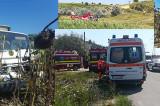 Plan roșu de intervenție la un accident a unui autovehicul cu 14 persoane. Intervine elicopterul SMURD