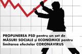 Important! PSD propune un set de măsuri economico-sociale pentru limitarea efectelor Coronavirus – COVID-19