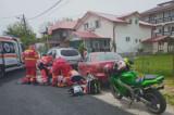 Grăbit și neatent, un tânăr de 33 de ani care circula cu motocicleta, s-a accidentat foarte grav și este resuscitat