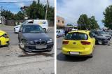Accident rutier produs pe fondul neatenției