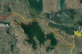 """Drumul """"Dobrogea Expres"""" va realiza legătura între localitățile Constanța – Babadag – Tulcea Isaccea – Măcin – Brăila. Primul tronson contractat: 60 de kilometri relația Jijila – Isaccea – Cataloi (lângă Tulcea)"""