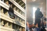 Incendiu la un bloc de locuințe din Tulcea. Două persoane au avut nevoie de îngrijiri medicale de urgență
