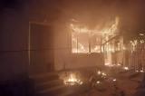 Incendiu violent la o casă din Slava Rusă