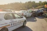 Accident la podul Somovei unde două autovehicule au intrat în coliziune și două victime au ajuns la spital