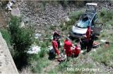 Un autoturism s-a răsturnat într-un canal de irigații. Pasagerul a murit iar conducătorul auto a ajuns în stare gravă la spital cu elicopterul