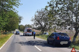 Cataloi-Nalbant: a încercat să depășească o coloană de mașini și a intrat într-un copac
