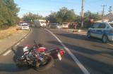 Accident cu două victime în urma unei coliziuni dintre un autoturism şi un motociclu