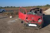 Un tânăr beat s-a accidentat grav după ce s-a rostogolit de mai multe ori pe ruta Zebil-Sarichioi