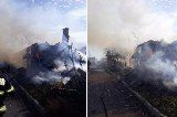 Incendiu la o casă din Murighiol