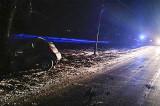 O femeie din Murighiol a intrat cu mașina într-un copac de pe marginea drumului