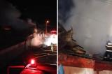 Flăcările au cuprins o casă din Măcin, după miezul nopții