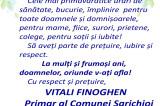 Mesaj de 8 Martie 2021: Vitali Cristian Finoghen – Primar al Comunei Sarichioi