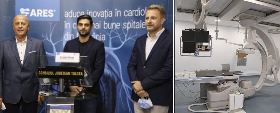 Parteneriat public privat, ARES – Spitalul Județean de Urgență Tulcea: Angiograful spitalului va fi operat de ARES, care aduce la Tulcea echipa sa de medici cu experiență